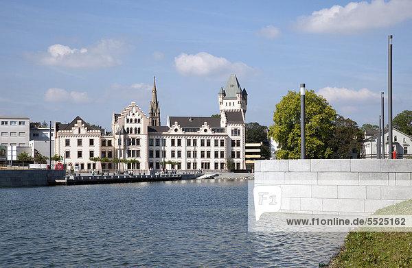 Phoenixsee  ehemaliges Hüttenwerk Phoenix-Ost  Hörder Burg  Zukunftsstandort  Stadtumbau  Dortmund  Hörde  Ruhrgebiet  Nordrhein-Westfalen  Deutschland  Europa  ÖffentlicherGrund