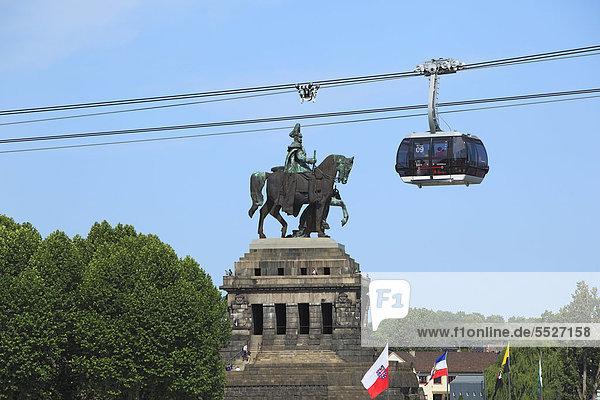 Kaiser-Wilhelm-Denkmal am Deutschen Eck in Koblenz  Deutschland Kaiser-Wilhelm-Denkmal am Deutschen Eck in Koblenz, Deutschland