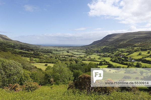Glenariff-Tal  Glens of Antrim  County Antrim  Nordirland  Irland  Großbritannien  Europa