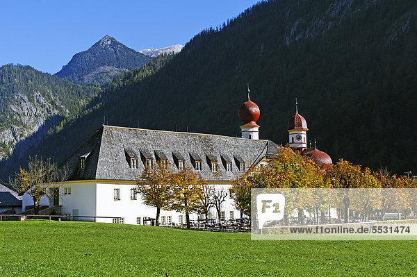 St. Bartholomä  Königssee  Berchtesgadener Land  Oberbayern  Bayern  Deutschland  Europa