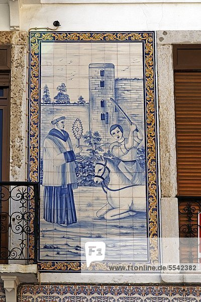 Tile picture  Alfama  Lisbon  Portugal  Europe
