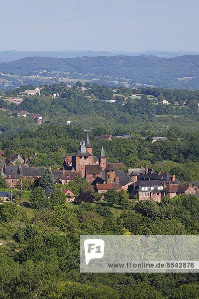 Collonges la Rouge  labelled Les plus beaux villages de France  The most beautiful villages of France  Dordogne valley Correze  Limousin  France  Europe