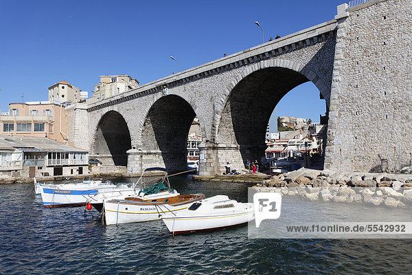 Hafen von Vallon des Auffes  Marseille  Bouches-du-Rhone  Frankreich  Europa