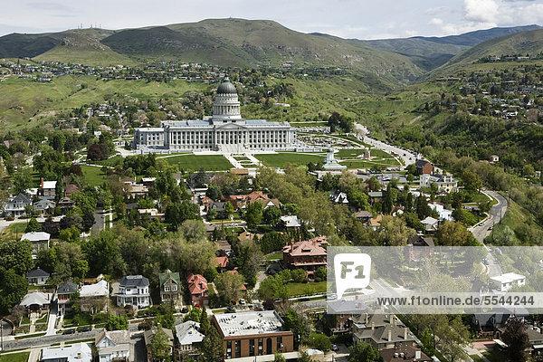 Vereinigte Staaten von Amerika USA Gebäude Hügel schlechte Angewohnheit Büro Salt Lake City Utah