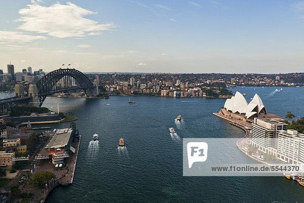 Hafen Opernhaus Oper Opern Brücke Australien New South Wales Sydney