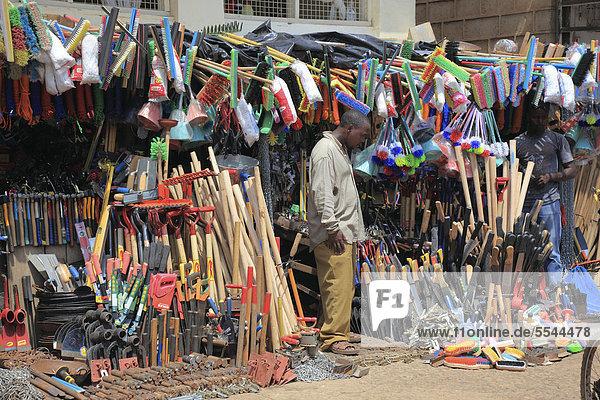 Household goods market  Moshi  Tanzania  Africa