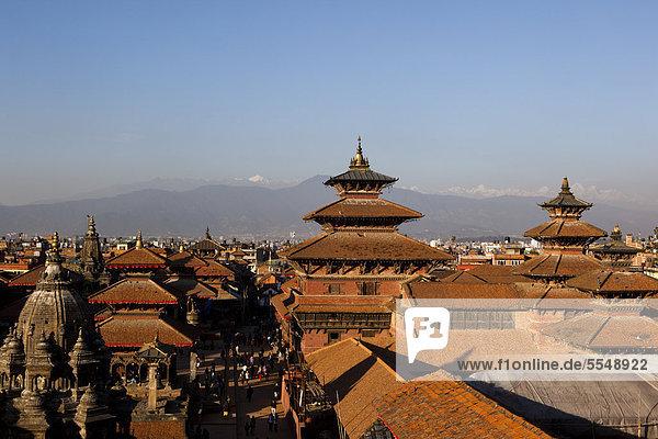 Kathmandu Hauptstadt Gebäude Quadrat Quadrate quadratisch quadratisches quadratischer Nepal