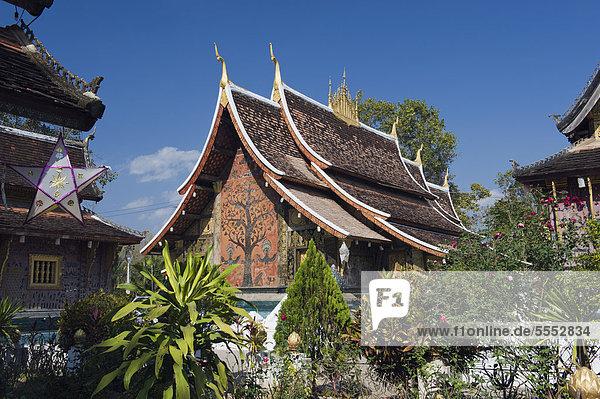 Wat Xieng Thong Tempel  Luang Prabang  Laos  Indochina  Asien