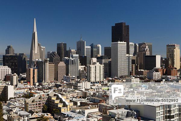 pyramidenförmig Pyramide Pyramiden Vereinigte Staaten von Amerika USA Skyline Skylines Nordamerika Kalifornien Innenstadt Pyramide San Francisco