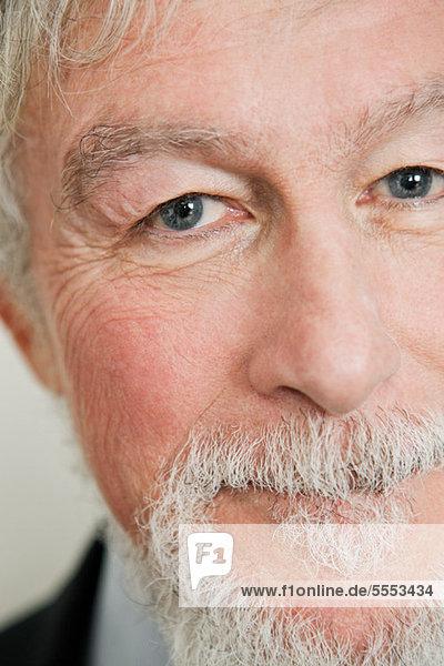 Close up auf Gesicht von Alter Mann