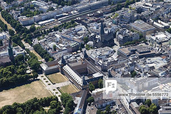 Europa  Deutschland  Nordrhein-Westfalen  Bonn  Luftbild der Stadt
