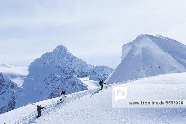 Schnee  Ski  klettern  Hang
