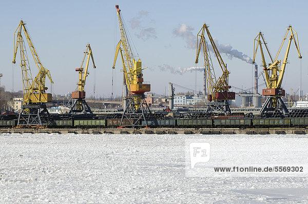 Sperre Eis Zeit Osteuropa Odessa Ukraine