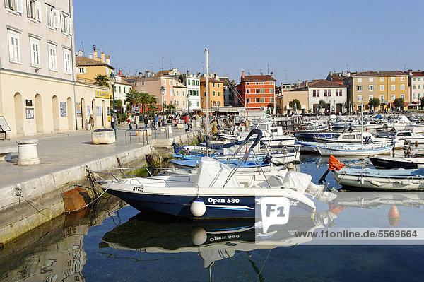Harbour  Rofinji  Istria  Croatia  Europe