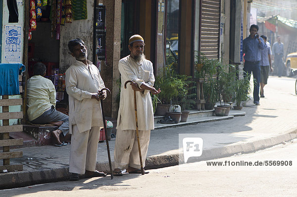 Beggars in the streets of Kolkata  West Bengal  India  Asia