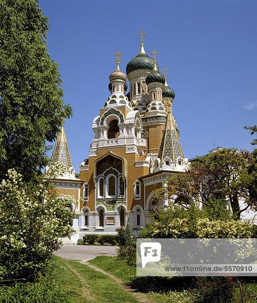 Russisch-orthodoxe Kirche  Nizza  Frankreich  Europa