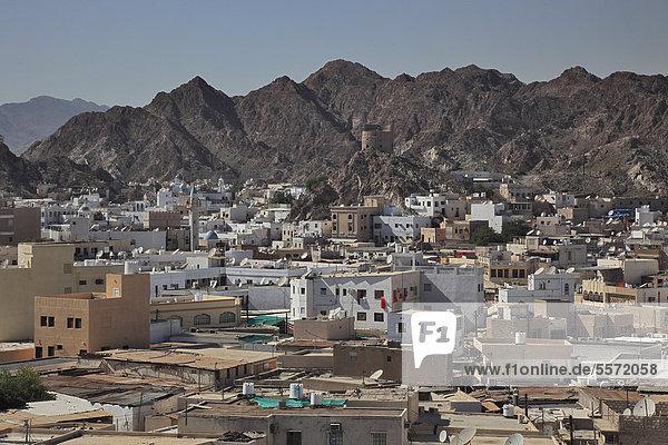 Skyline of Muttrah  Muscat  Oman  Arabian Peninsula  Middle East  Asia