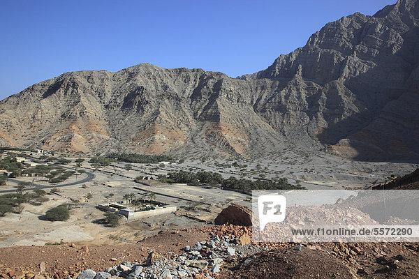 Bukha  in der omanischen Enklave Musandam  Oman  Arabische Halbinsel  Naher Osten