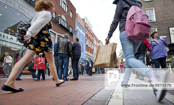 Main shopping street  Grafton Street  Dublin  Ireland  Europe