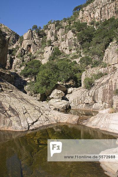 Valle d'Oridda  Monte Linas  Sardinien  Italien  Europa