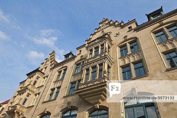Fassade  Geschäftshaus am Anger  Erfurt  Thüringen  Deutschland  Europa
