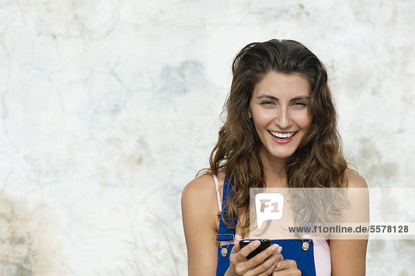 Lächelnde junge Frau  Portrait
