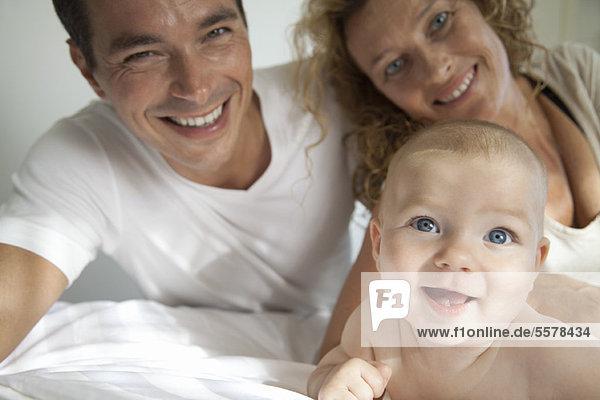 Eltern mit Baby  Portrait