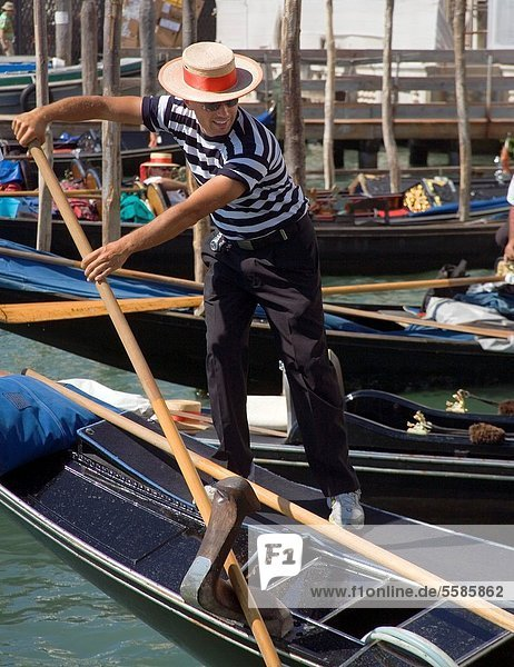 Boot  Gondoliere  Venedig