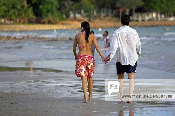 Strand  spazierengehen  spazieren gehen  Thailand