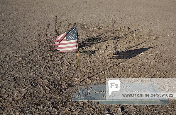 'American flag in the Memory Gardens Cemetery and Memorial Park  which is in foreclosure