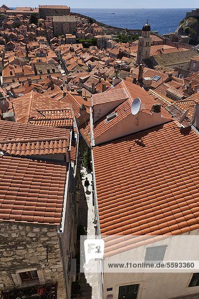 Croatia  Dubrovnik  View of old town