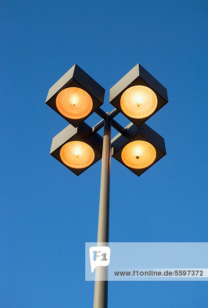 Street lights and blue sky IS099KE8S