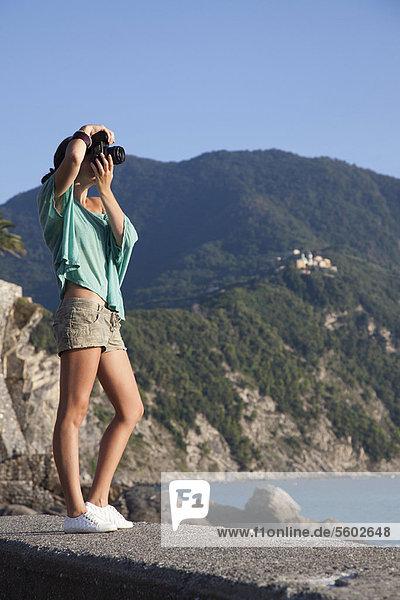 Frau  nehmen  Küste  Gemälde  Bild