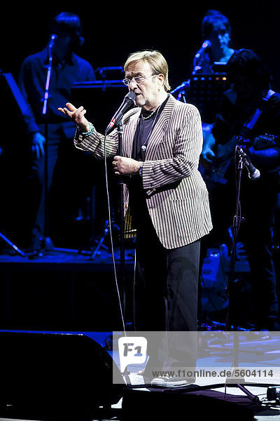 The Italian singer Lucio Dalla performing live at the concert hall of the KKL in Lucerne  Switzerland  Europe