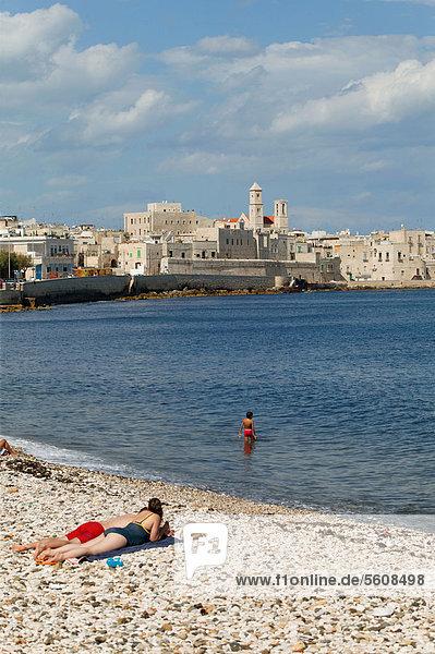 Europa Strand Apulien Italien