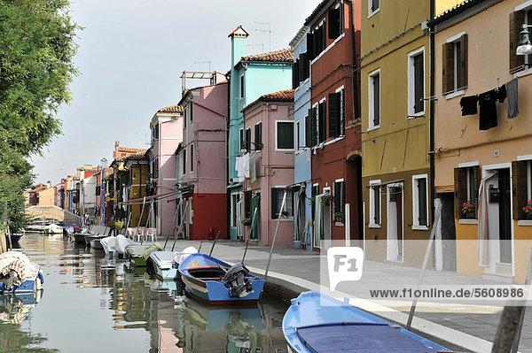 Europa Boot Insel Burano Italien Lagune