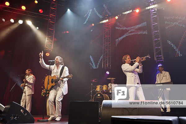 'The Austrian pop band ''Die Paldauer'' performing live at the Schlager Nacht 2012  pop music event  in Lucerne  Switzerland  Europe'