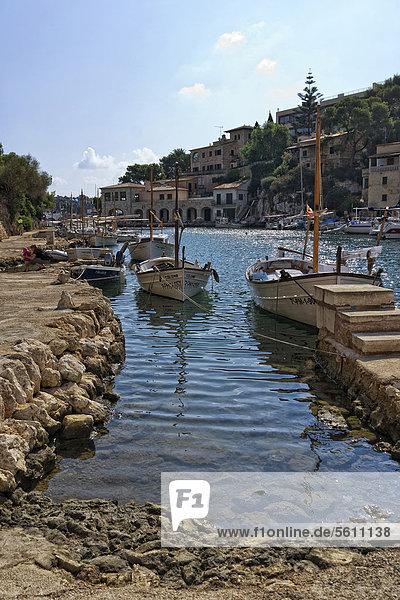 Europa Boot Balearen Balearische Inseln Cala Figuera Mallorca Spanien