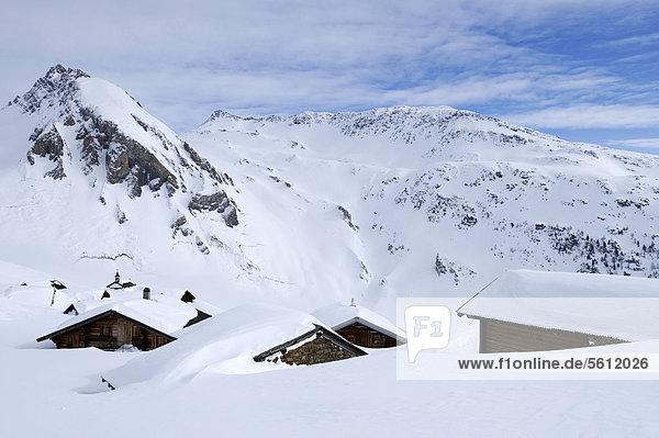 nahe Europa Berg bedecken Dorf Schnee Schweiz