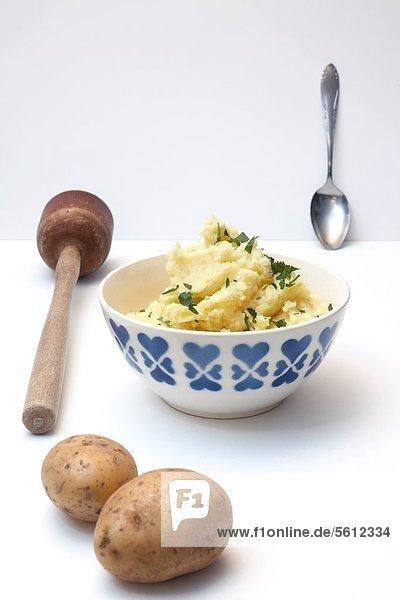 Kartoffelpüree und Kartoffeln Kartoffelpüree und Kartoffeln