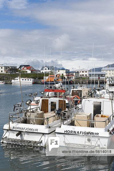 Fishing port  Hoefn  Iceland  Northern Europe  Europe