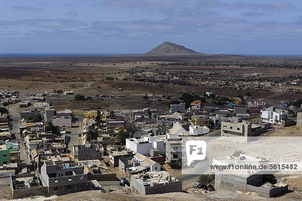 Espargos  view from Monte Curral  Sal  Cape Verde  Africa