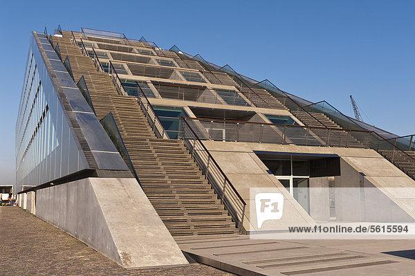 Dockland office building  built in 2005 by Hadi Teherani  Altona  Hamburg  Germany  Europe