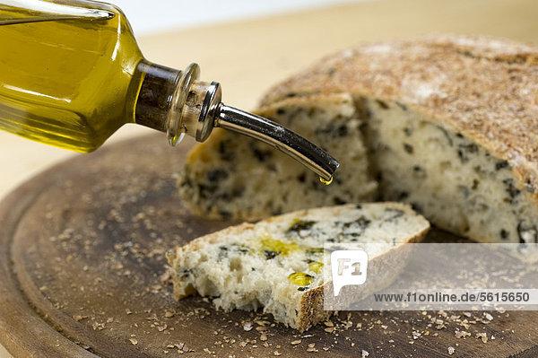Topfbrot mit Wakame-Algen  No-Knead Bread - Rezeptdatei vorhanden