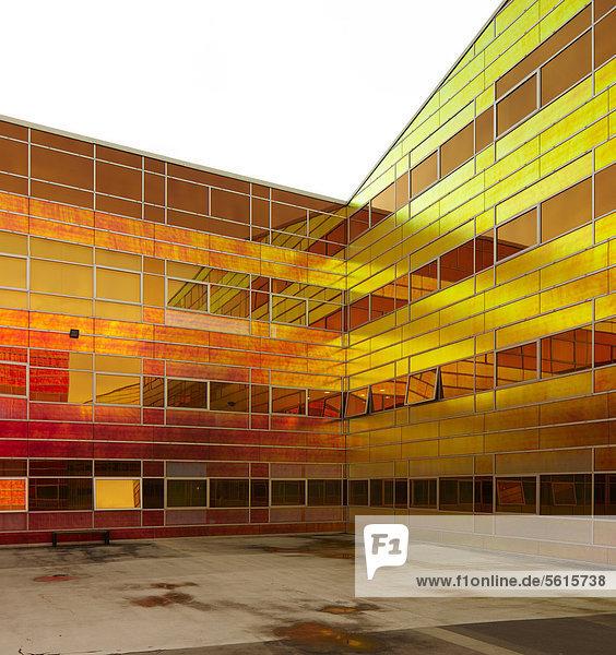 Bürokomplex mit irisierender Oberflächenbeschichtung in Almere  Niederlande  Europa  nur für redaktionelle Verwendungen