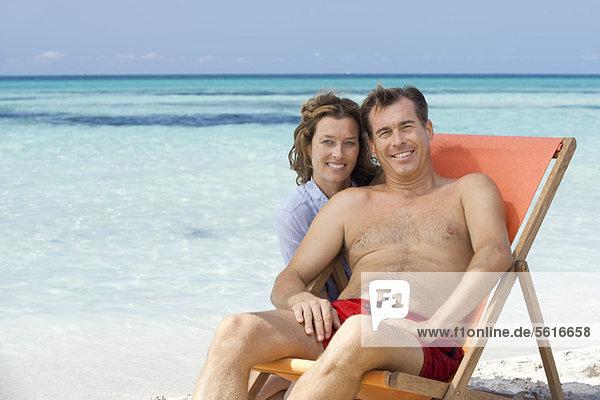 Couple at beach  portrait