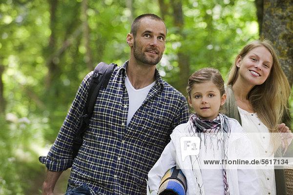 Familie im Wald  Portrait