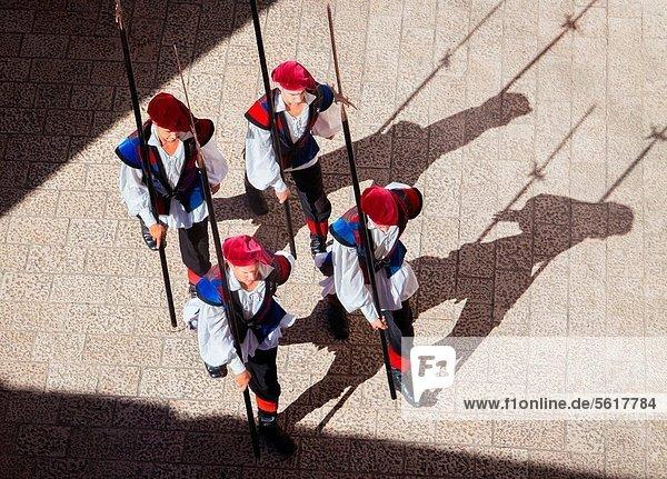 Tradition  Großstadt  Soldat  wechseln  Vogel  Ansicht  Wachmann  Kroatien  Dubrovnik  marschieren  alt