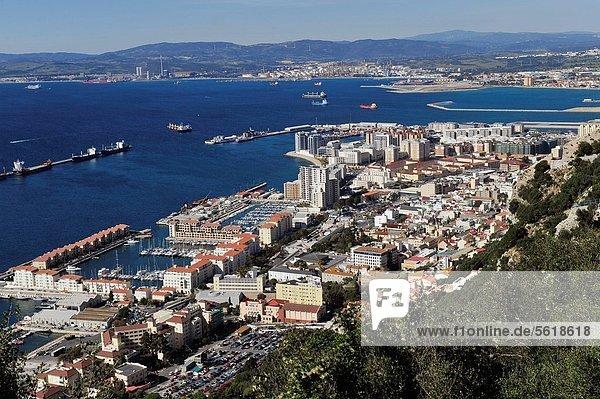 Europa  sehen  Bucht  Innenstadt  Gibraltar  Felsen von Gibraltar