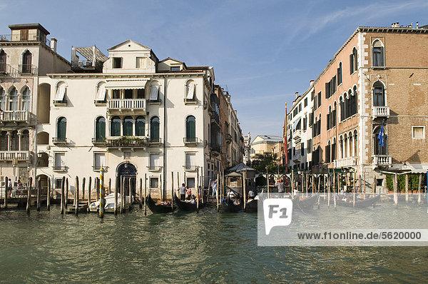 Europa Venetien Italien rechts Venedig
